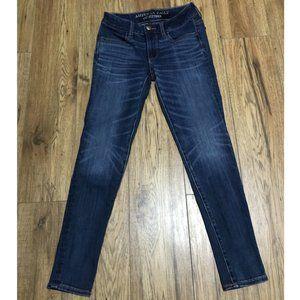 American Eagle Blue Jeans Size 0 Super Stretch